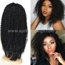 Indian remy Jerry curl glueless lace front wig-bw0052