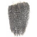 6mm curly lace frontal