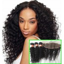 Brazilian Virgin Human hair 3 Wefts and 1 lace frontal