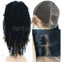 Remy hair deep wave full lace wig with silk top baby hairs 26579