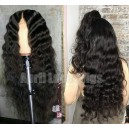 Brazilian virgin natural wave glueless 360 glueless wig preplucked hairline --BW0880