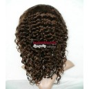 no glue Glueless 14inches deep wave human hair full lace wig-LW8008